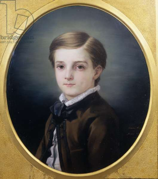 Portrait of Pierre Loti (1850-1923) by his sister, 1862 (pastel on paper)