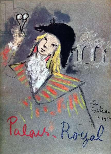 Menu Cover for the Parisian Restaurant 'Le Grand Vefour', 1953 (colour litho)