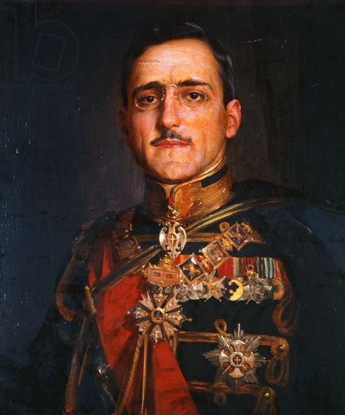 King Alexander I of Yugoslavia (oil on canvas)