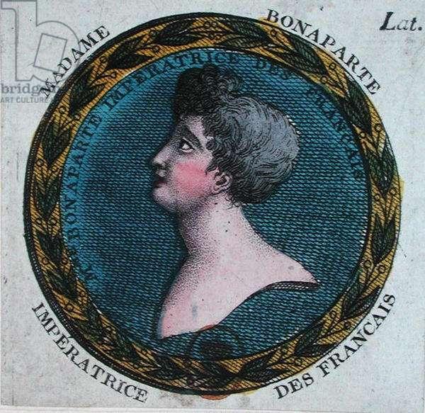 Josephine Bonaparte (1763-1814) Empress of the French, c.1804 (colour litho)