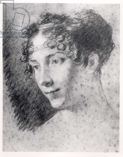 Empress Josephine (1763-1814) (charcoal on paper)
