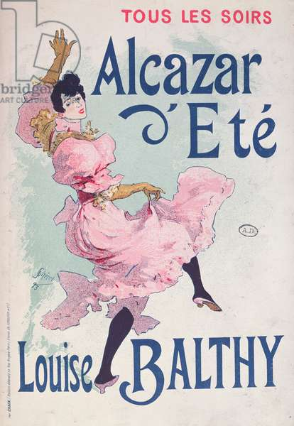 Poster for 'Alcazar d'Eté', starring Louise Balthy, 1893 (colour litho)