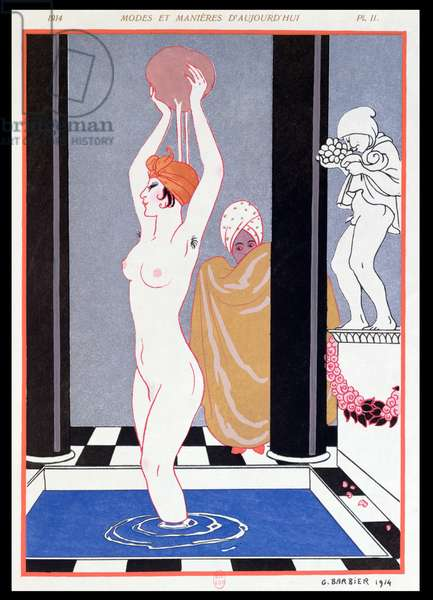 The Basin, 1914 (colour litho)