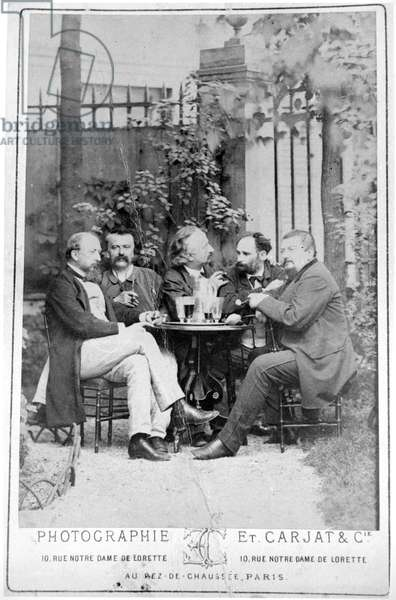 Manet (second from right) with his political friends (b/w photo)