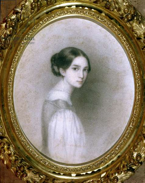 Portrait of Leopoldine Hugo (1824-43) (drawing)