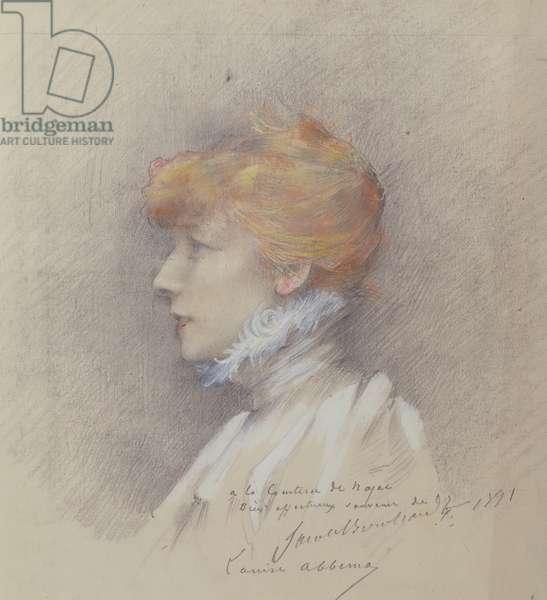Sarah Bernhardt (1844-1923) 1891 (pastel on paper)