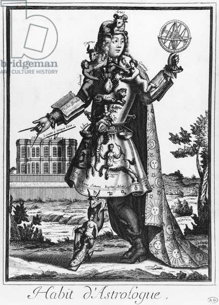 Costume for an Astrologer (engraving) (b/w photo)
