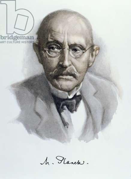 Max Planck (1858-1947) 1950's (colour litho)