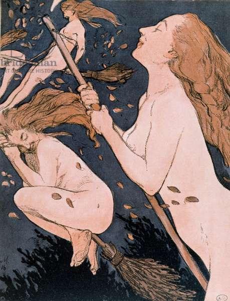 Walpurgis Sabbath, 1906 (colour engraving)