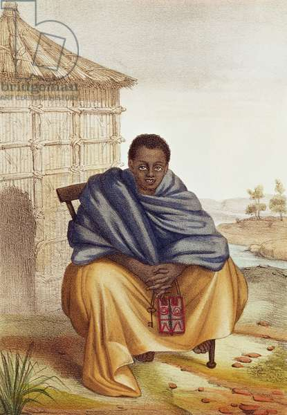 Toucouleur, Grand Marabout du Fouta, from 'Senegalese sketches, face of the country, nations, commerce, religions, past and future, stories and legends', 1853 (colour litho)