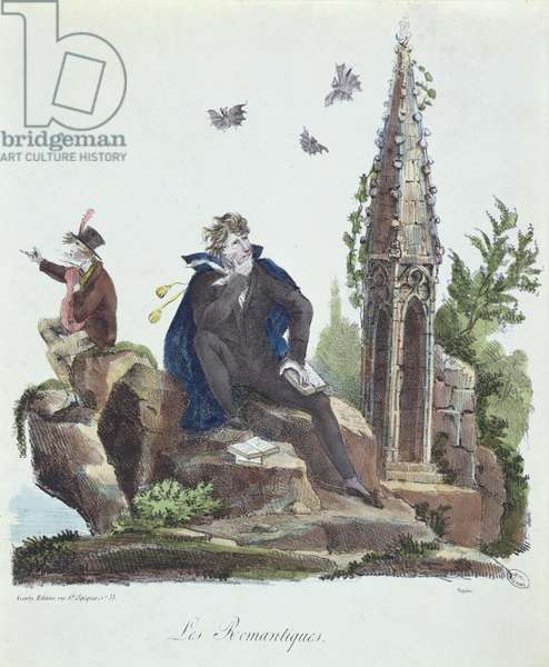 'The Romantics', engraved by Montoux and Cheyere, 1830 (colour litho)