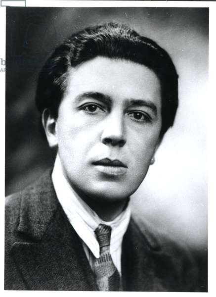 Portrait of Andre Breton (1896-1966) 1930 (b/w photo)