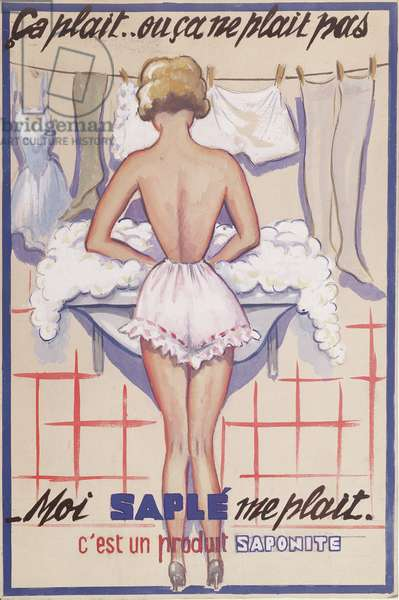 Original artwork for an advertisement for 'Saple' washing powder, c.1945 (w/c on paper)