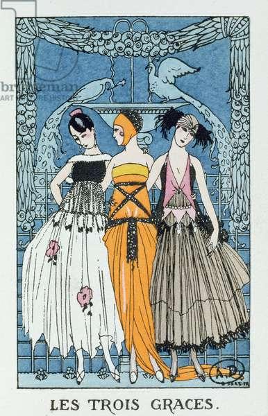 Les Trois Graces, 1918 (colour litho)