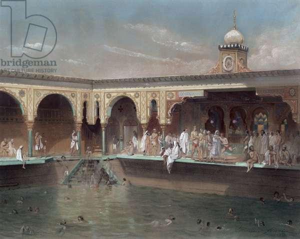 The Deligny Baths, Paris, 1842 (w/c on paper)