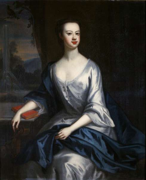 Portrait of a Lady, thought to be Eleanor Verney (1710-25) (oil on canvas)