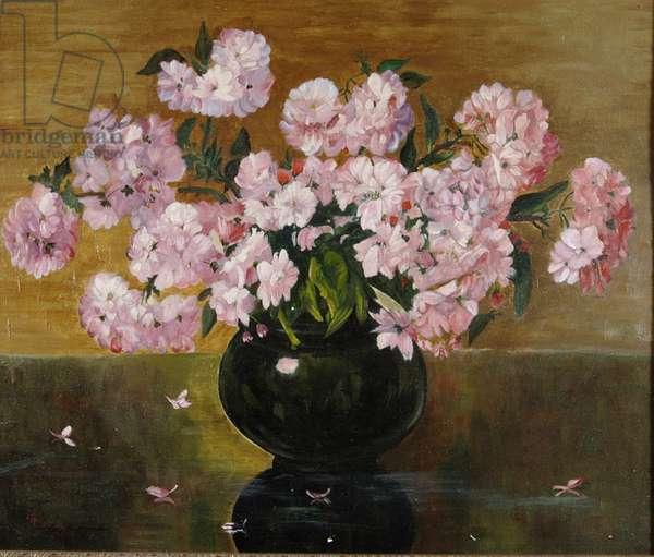 Pink Floral Bouquet (oil on canvas)