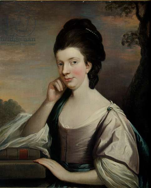Portrait of a Lady, thought to be Mrs Elizabeth Hartley (1751-1824) (oil on canvas)