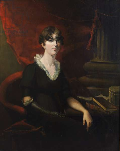 Portrait of a Lady, possibly Sarah Harriet Burney (1772-1884) (oil on canvas)