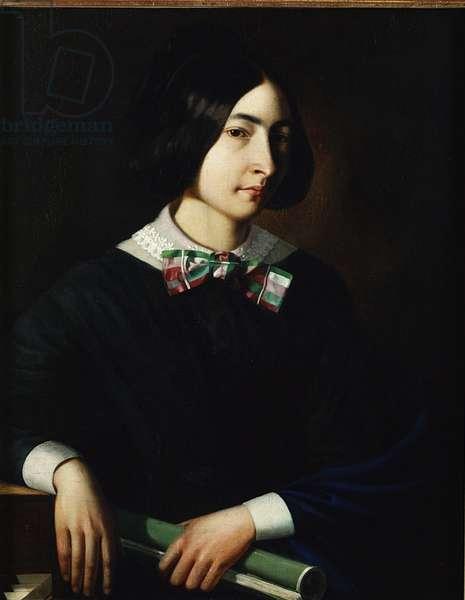 George Sand (1804-76) (oil on canvas)