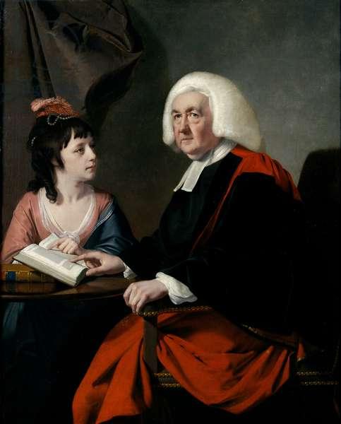 Rev. Thomas Wilson (1703-84) and Miss Catherine Macaulay (1731-91) (oil on canvas)