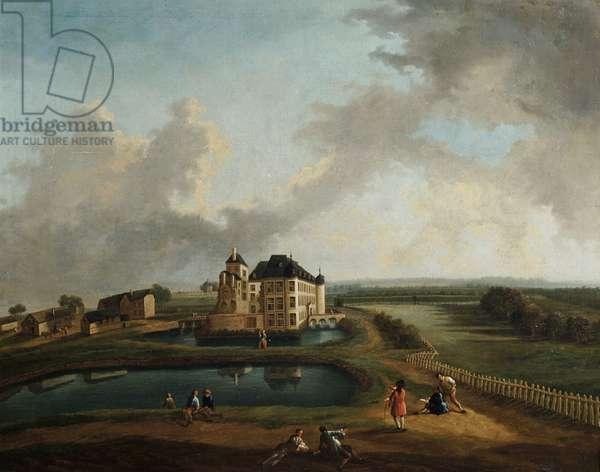 Flemish Castle (oil on canvas)