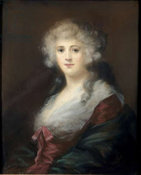 Portrait of a Lady, thought to be Georgiana Spencer (1757-1806) Duchess of Devonshire (pastel on paper)