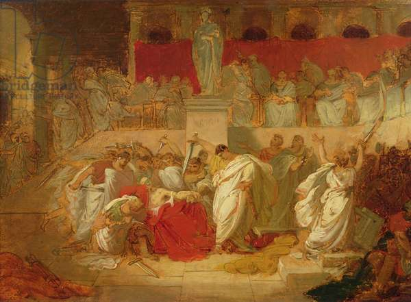 The Death of Caesar (oil on canvas)