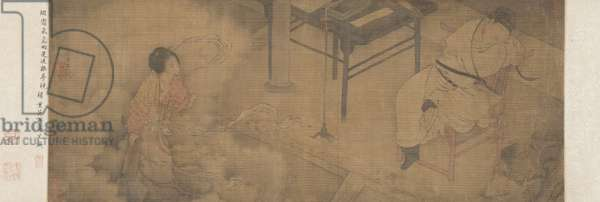 Handscroll: Sima Caizhong's Dream of the Courtesan, Su Xiaoxiao (ink & colour on silk)