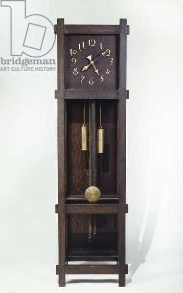 Tall Case Clock, c.1910 (oak & brass)