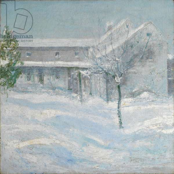 Old Holley House, Cos Cob, 1901 (oil on canvas)