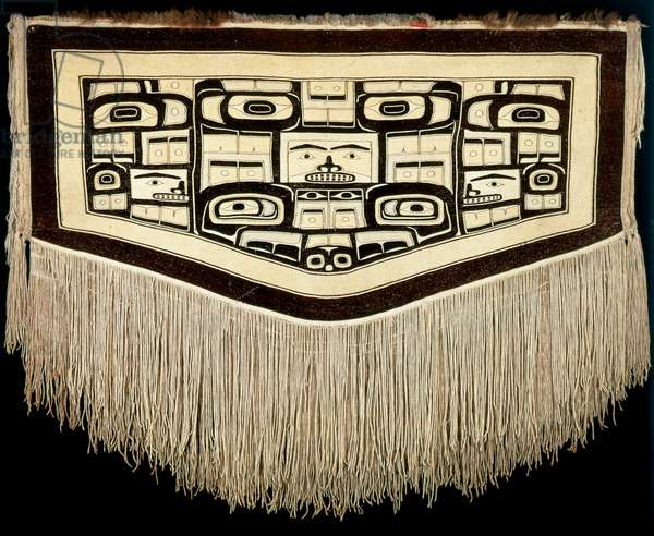 Chilkat ceremonial dance blanket, Tlingit culture, mid- to late 19th century (mixed media)