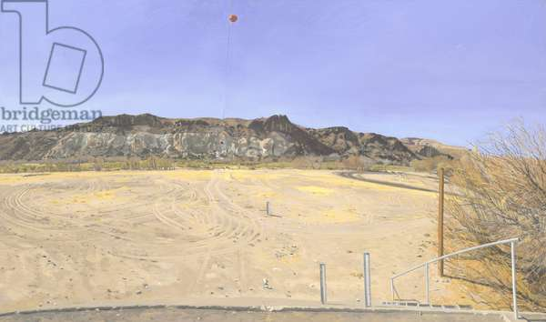 Water-flow monitoring installations on the Rio Grande near Presidio, Part 2, facing south, 2002-03 (oil on canvas)