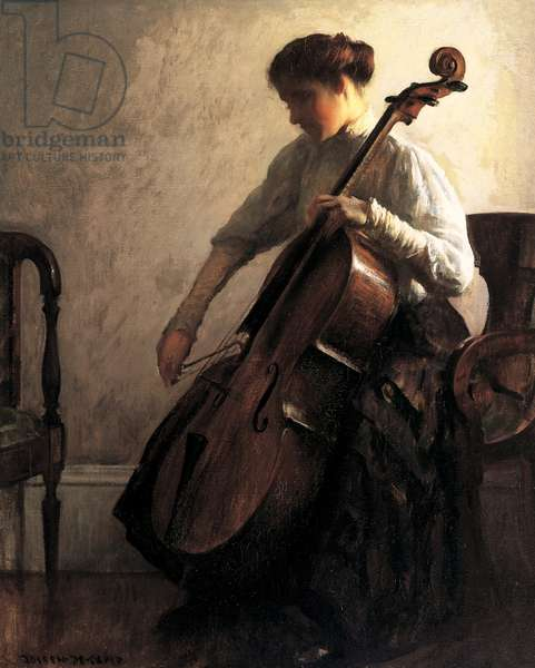 The Cellist, 1908 (oil on canvas)