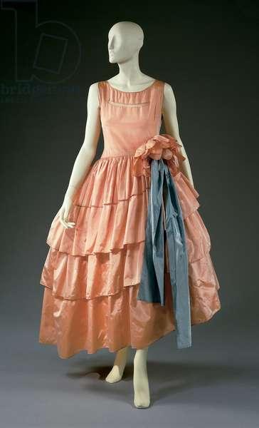 Evening dress and hoop, 1927 (silk)