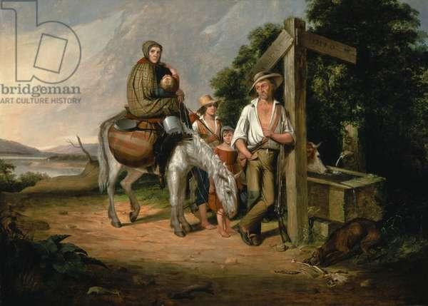 North Carolina Emigrants, Poor White Folks, 1845 (oil on canvas)
