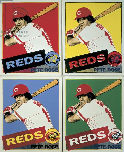Pete Rose, 1985 (acrylic on canvas with screen-printed image)