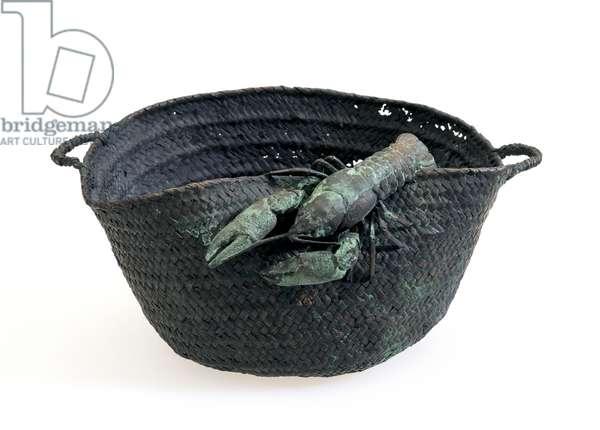 Basket, c.1897-1900 (copper electroplated on tin & semi-precious stones)