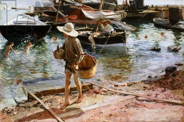 Puerto de Valencia, 1897 (oil on canvas)