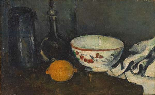 Still Life in Blue with Lemon, c.1877 (oil on canvas)