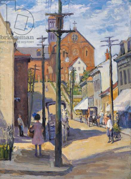 Pavilion Street, Mount Adams, c.1920 (oil on board on masonite)