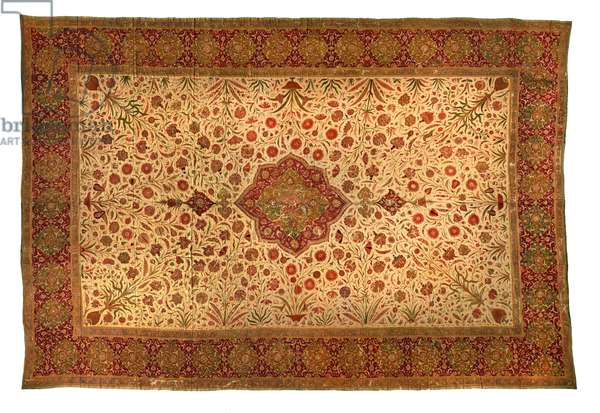 Floorspread, Golconda, c.1630 (cotton cloth with painted resist & mordants)