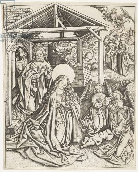 The Nativity, c.1450-70 (engraving)