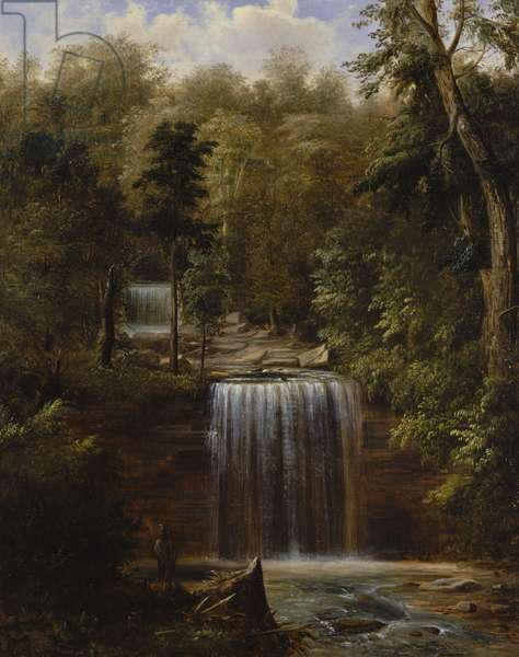 Minneopa Falls, Minnesota, 1862 (oil on canvas)