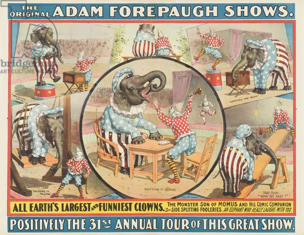 The Original Adam Forepaugh Shows: All Earth's Largest and Funniest Clowns (colour litho)