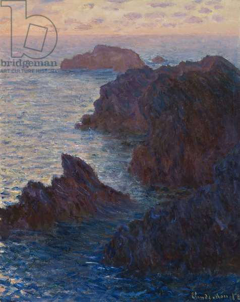 Rocks at Bell-Ile, Port-Domois, 1886 (oil on canvas)