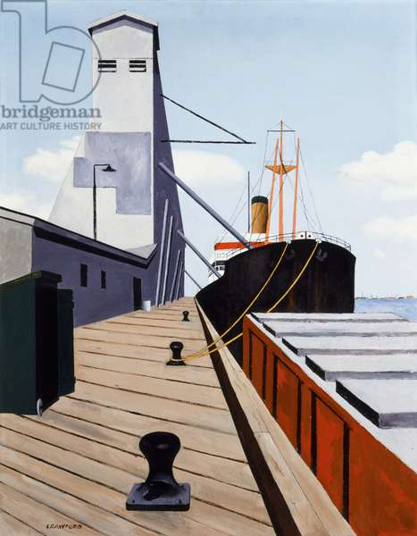 Public Grain Elevator in New Orleans, 1938 (oil on canvas)