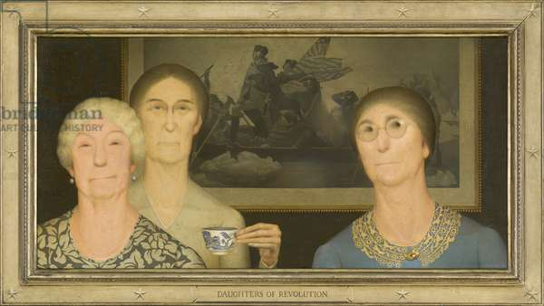 Daughters of Revolution, 1932 (oil on masonite)