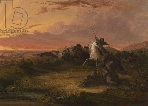 Buffalo Hunt, c.1848 (oil on canvas)