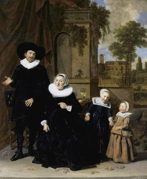 Portrait of a Dutch a Family, c.1635 (oil on canvas)